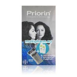 Промо пакет Приорин – 2бр шампоан Приорин + Подарък ролки за коса