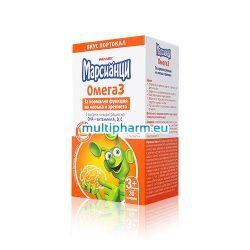 Промоция: Марсианци Омега 3 рибено масло за деца с вкус на портокал 30капс 2 опаковки с отстъпка