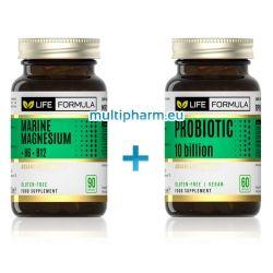 Промо: Life Formula / Морски Магнезий + B6 + B12 90капс + Life Formula / Пробиотик 10млрд. 60капс