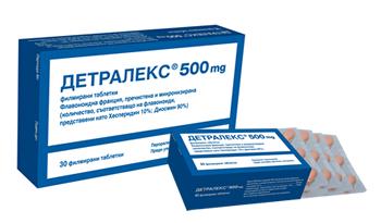 Detralex / Детралекс при разширени вени и хемороиди 30табл.