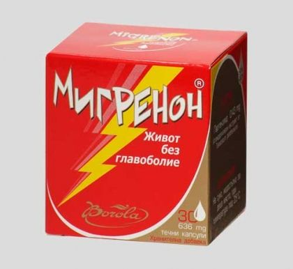 Migrenon / Мигренон При мигрена 30капс.