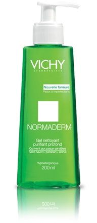 Vichy Normaderm / Виши Нормадерм Почистващ гел за мазна проблемна кожа 200мл.