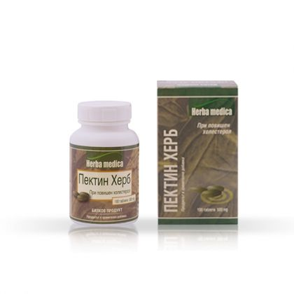 Herbamedica Pectin Herb / Пектин Херб за намаляване на холестерола в кръвта 100 табл.
