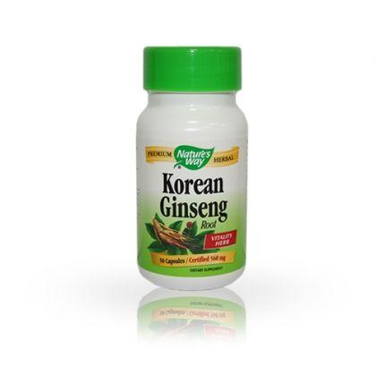 Nature's way Korean Ginseng / Корейски женшен за енергия и тонус 50капс.