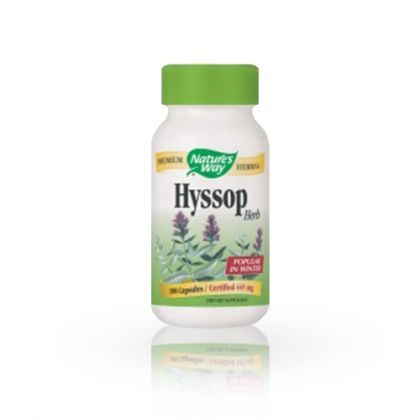 Nature's way Hyssop / Исоп при кашлица и хроничен бронхит 100капс.