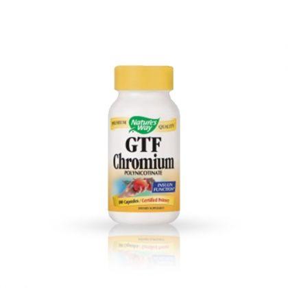 Nature's way GTF Chromium / GTF хром за понижаване на кръвната захар и холестерола 100капс.