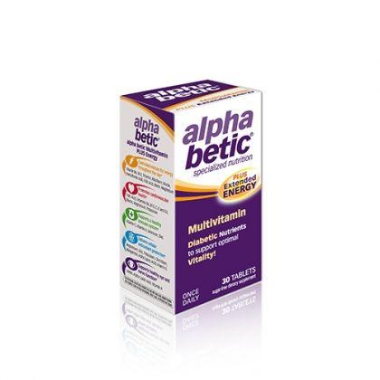 Alpha Betic Plus / Алфа Бетик мултивитамини за диабетици с удължено енергизиращо действие 30табл