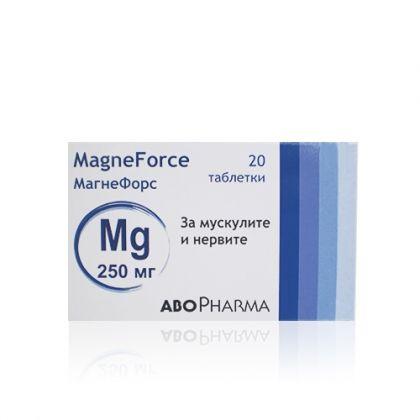 AboPharma Magneforce / Магнефорс магнезиеви таблетки за мускулите и нервите 250mg 20табл