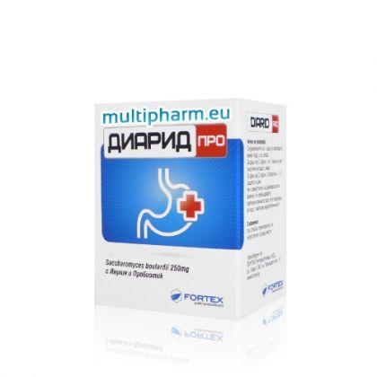 Diarid Pro / Диарид Про за подкрепа на храносмилателната система 10 сашета