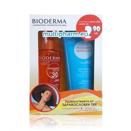 Bioderma / Биодерма промо пакет: Бронзираща слънцезащита 200ml + Мляко за след слънце 200ml