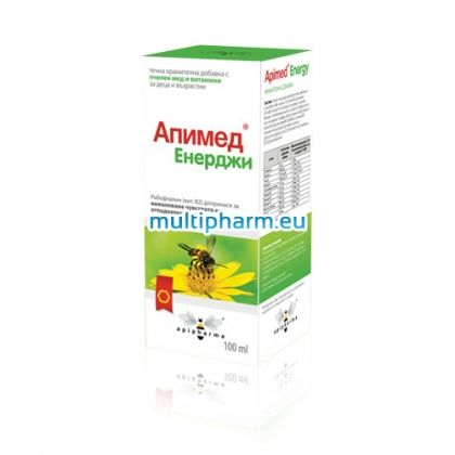 Apimed Energy / Апимед Енерджи с мед за енергия и имунитет 100ml
