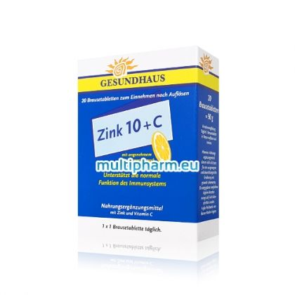 Zink 10+C / Цинк 10+C за силна имунна система 20 ефф. табл