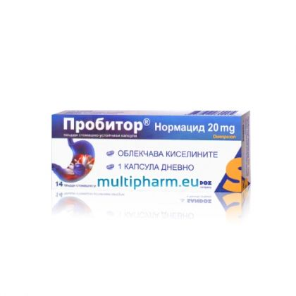 Пробитор Нормацид при киселини в стомаха 14капс