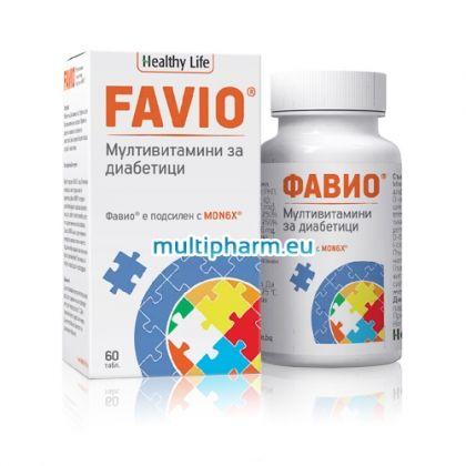 Favio / Фавио Мултивитаминна формула за диабетици 60табл.