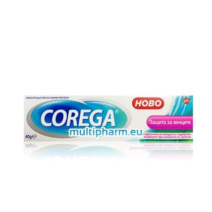 Corega / Корега Фиксиращ крем за зъбни протези защитаващ венците 40g