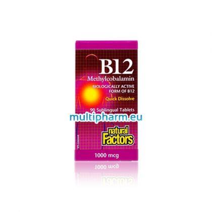 Natural Factors B12 / Метилкобаламин витамин B12 90табл