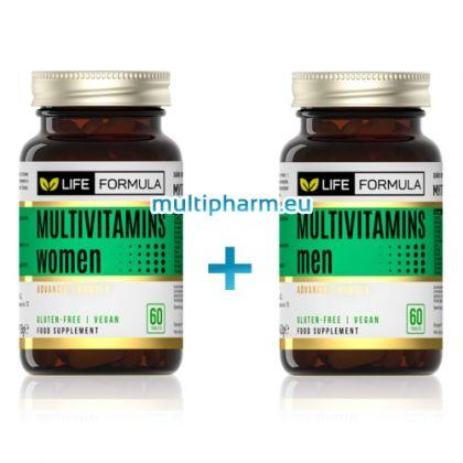 Промо: Life Formula / Мултивитамини за жени 60капс + Мултивитамини за мъже 60капс