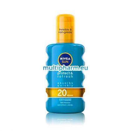 Nivea Sun Protect&Refresh IP / Нивеа Слънцезащитен, охлаждащ спрей SPF20 200ml