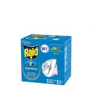 Raid Night & Day / Райд Нощ и Ден електрически изпарител срещу мухи и комари 2бр.