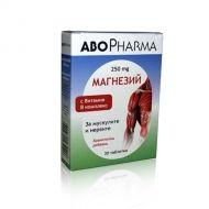 Abo Pharma Magnesium / Магнезий 250mg с Витамин В комплекс за укрепване на мускулите и нервите 30табл
