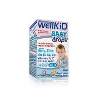 WellKid Baby drops / Уелкид витамини и минерали на капки за бебета 30мл