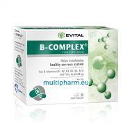 Evital B-Complex / Б-Комплекс за подкрепа на нервната система 30капс