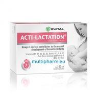 Evital Acti-Lactation / Акти-Лактейшън формула допринасяща за нормалното развитие на кърмачетата 30капс