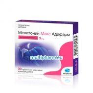 Адифарм Мелатонин Макс за пълноценен сън 3mg 30табл
